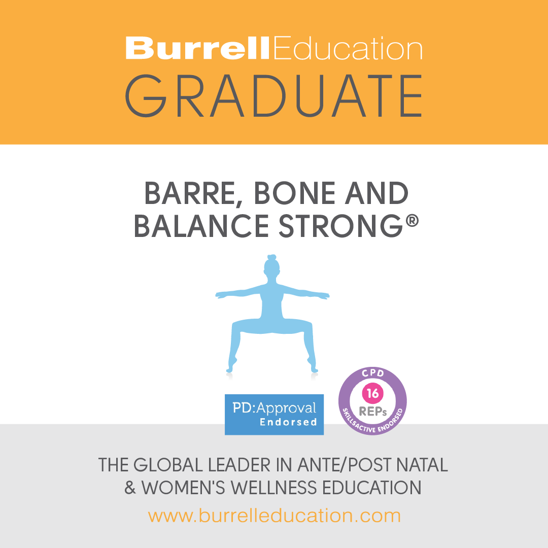 Burrell Education Barre, Bone and Balance Strong