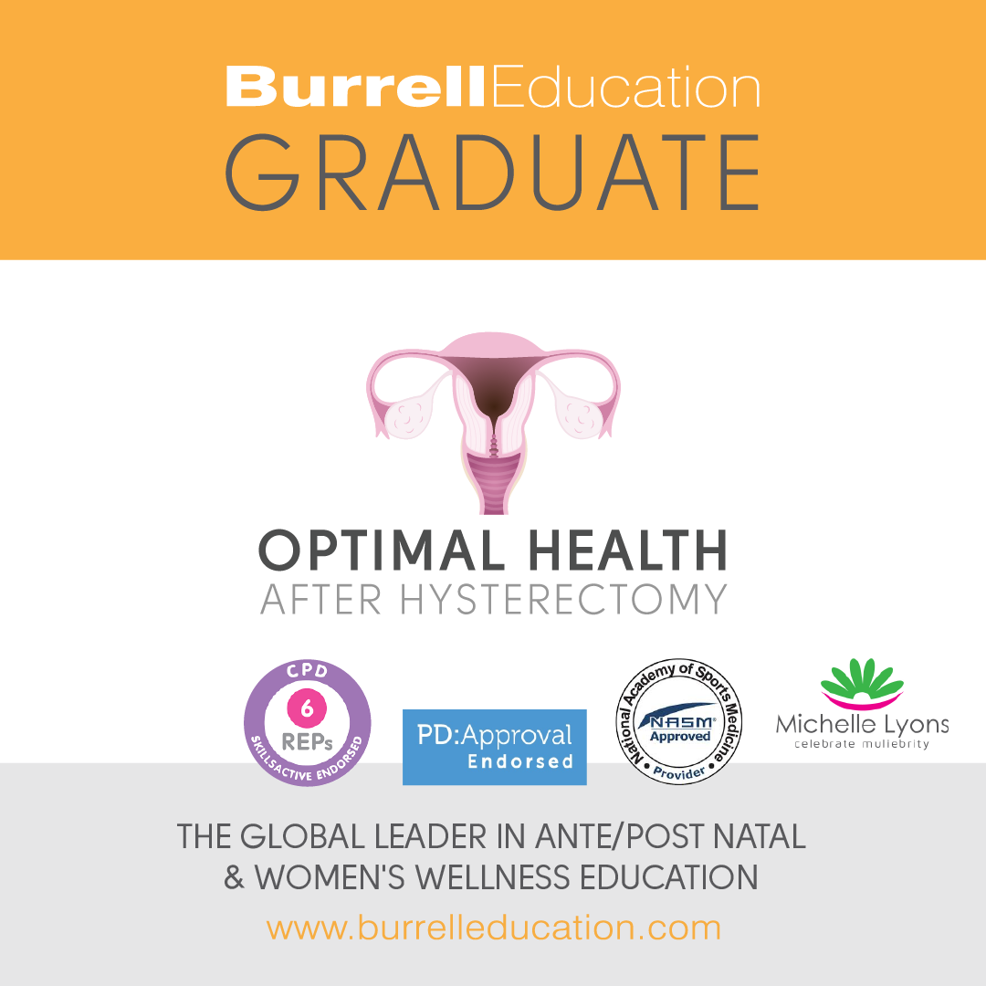Burrell Education Optimal Health after Hysterectomy